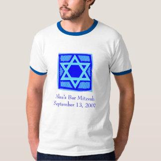 T-shirt de Mitzvah do bar/bastão