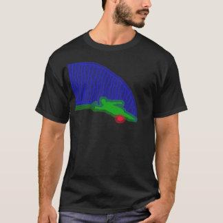 T-shirt de néon do pulverizador do esquiador da