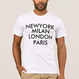 T-shirt de Newyork Milão Londres Paris