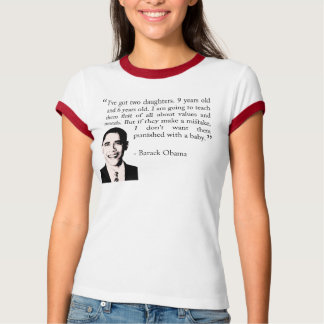 T-shirt de Obama Barack (valores familiares)