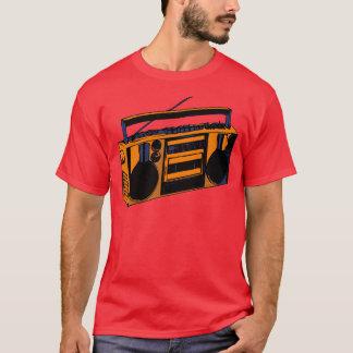 t-shirt de rádio retro de Boombox da velha escola