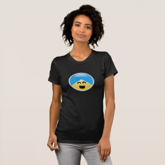 T-shirt de riso americano de Emoji do turbante do