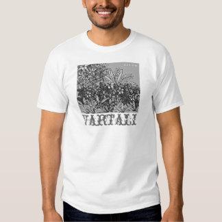 T-shirt de Vartali da flor preta & branca