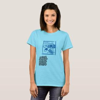 T-shirt de Xinando Açores - tartaruga - mulher