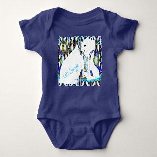 T-shirt Deixe-nos Snuggle o urso polar