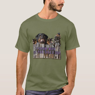 T-shirt Deixe os cães para fora!