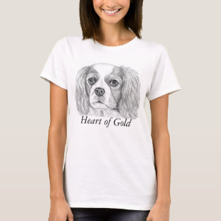 T-shirt descuidado do Spaniel de rei Charles