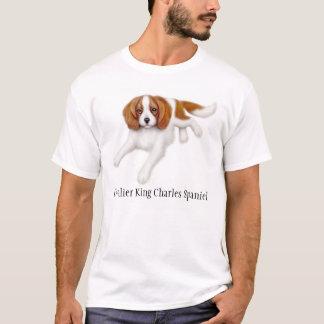 T-shirt descuidado do Spaniel de rei Charles