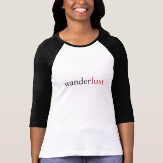 T-shirt desejo do significado do wanderlust viajar