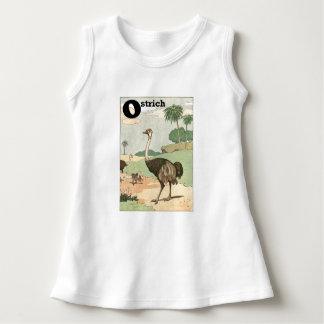 T-shirt Desenho africano do alfabeto da avestruz