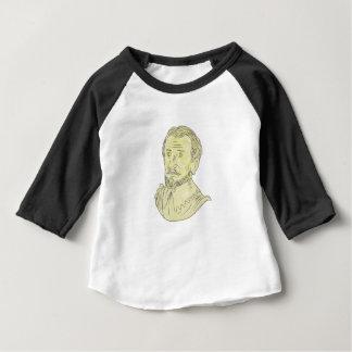 T-shirt Desenho espanhol do século XV do busto do