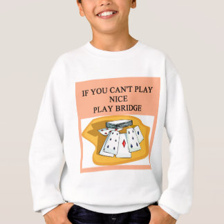 T-shirt design engraçado da piada do jogador de ponte