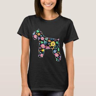 T-shirt Design floral bonito do Schnauzer