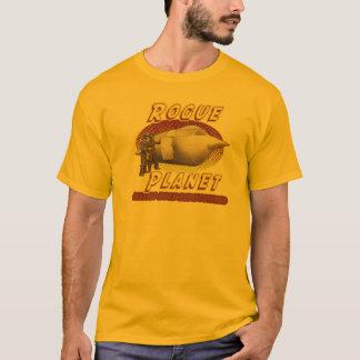 T-shirt desonesto do navio de espaço do planeta