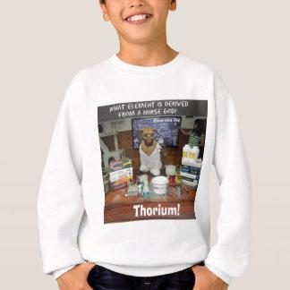T-shirt Deus do Thor do tório do cão do conhecimento do
