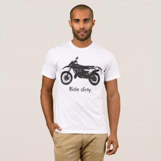 T-shirt Dirtbike - passeio sujo