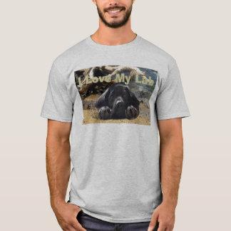 T-shirt do amor de labrador retriever