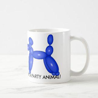 T-shirt do animal do balão do divertimento caneca de café