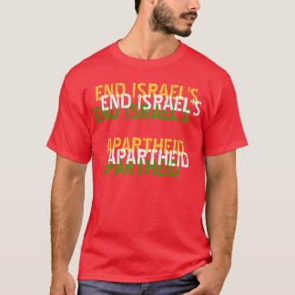 T-shirt do APARTHEID de ISRAEL da EXTREMIDADE