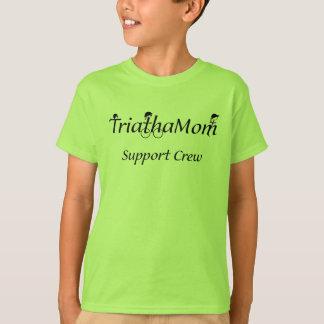 T-shirt do apoio do TriathaMom da criança