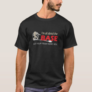 T-shirt do basebol - eu sou toda sobre a base!