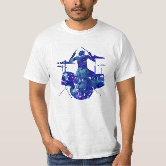 T-shirt do baterista da rocha