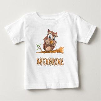 T-shirt do bebê da coruja de Katharine