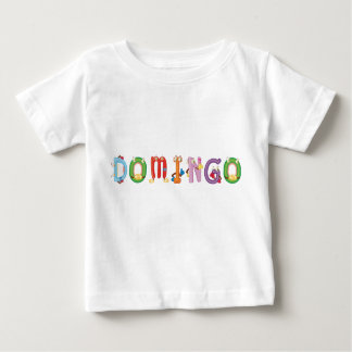 T-shirt do bebê de Domingo