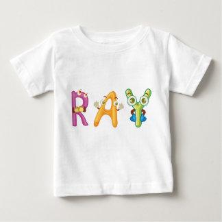 T-shirt do bebê do raio