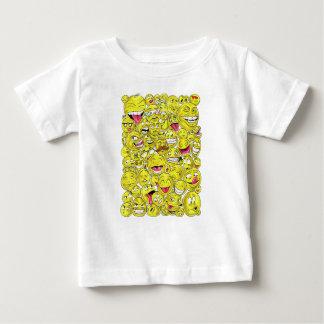T-shirt do bebê dos Emoticons