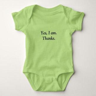 T-shirt do bebê dos obrigados
