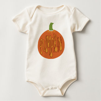 T-shirt do bebê e da criança da arte da abóbora