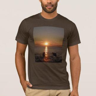 T-shirt do caiaque do por do sol
