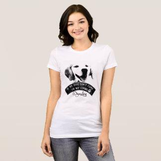 t-shirt do cão do golden retriever