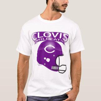 T-shirt do capacete de futebol dos Wildcats de