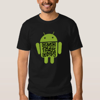 T-shirt do código do Android QR