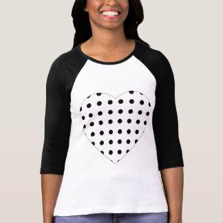 T-shirt do coração da polca