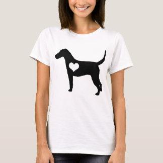 T-shirt do coração do Foxhound americano