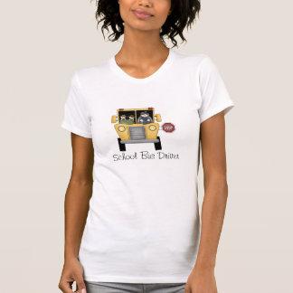 T-shirt do costume do motorista de auto escolar
