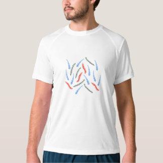 T-shirt do desempenho dos homens com ramos