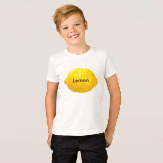 T-shirt do design do limão do miúdo do menino