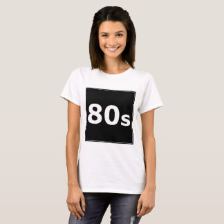 T-shirt do design do preto do ` 80s de Sharnia'