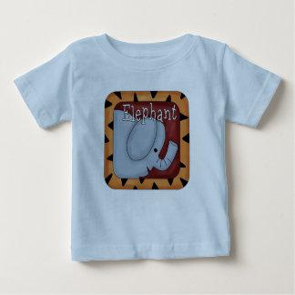 T-shirt do elefante do divertimento do tema da