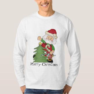 T-shirt do feriado do papai noel do Natal dos home
