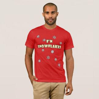 T-shirt do feriado dos flocos de neve de F'n