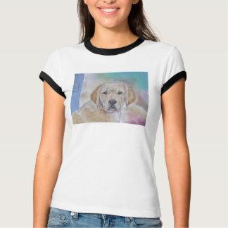 T-shirt do filhote de cachorro do golden retriever