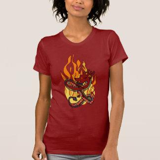 T-shirt do fogo do dragão