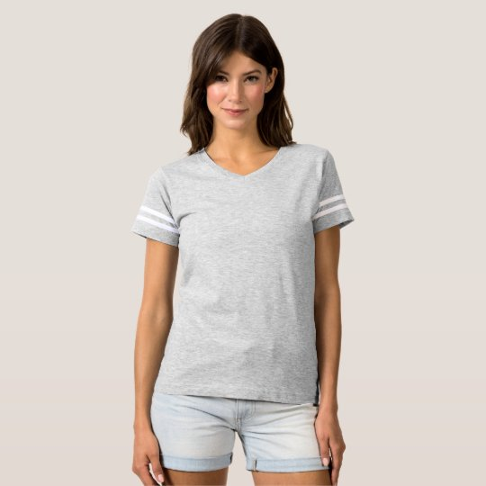 Camiseta Football Feminina, Heather Grey