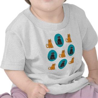 T-shirt do gato da criança