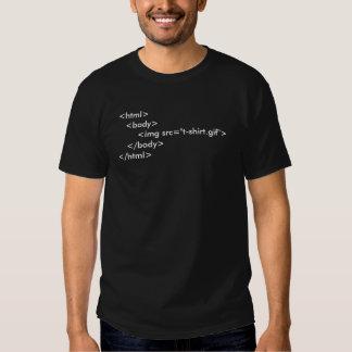 T-shirt do geek do computador do HTML